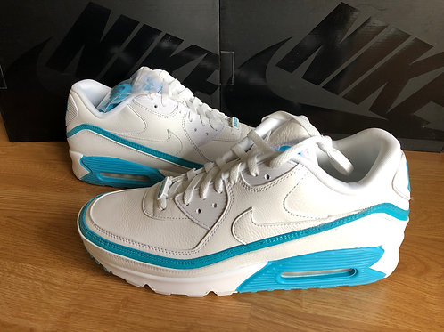 Nike Air Max 90 UNDFTD Undefeated White/Blue Fury