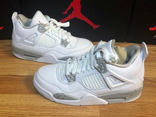 Air Jordan 4 Retro (GS) White Oreo