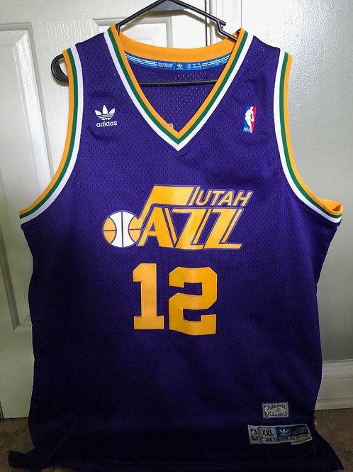 adidas HWC Hardwood Classics 1985-1986 Utah Jazz John Stockton Swingman Jersey