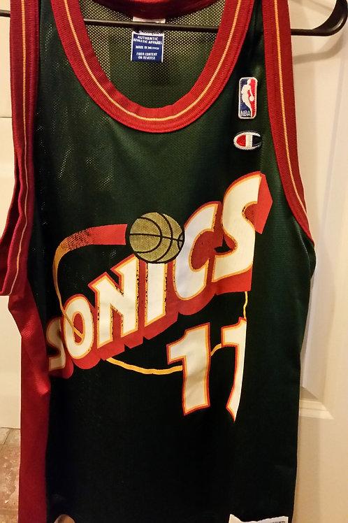 Champion Detlef Schrempf Seattle Sonics Jersey - Size 44 (L)