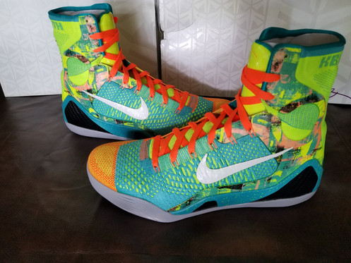 "low priced 83bea aa148 ... Nike Basketball presents an ""Influence"" edition of Kobe Bryant s  signature Kobe 9 Elite. Decked out in a Sport Turquoise White-Volt-Total  Orange ..."