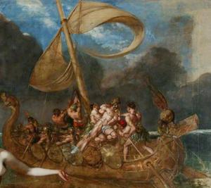 """* Resim, William Etty'nin """"Sirenler ve Ulysses"""" adlı 1837 tarihli tablosundan alınmıştır."""