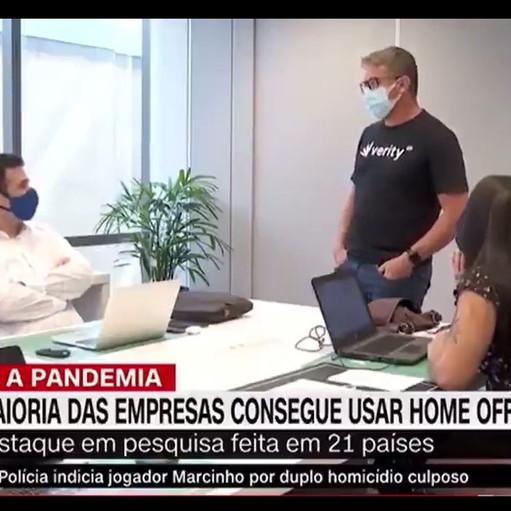 TV: maioria das empresas consegue usar home office, diz estudo