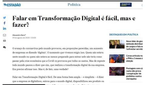 Falar em Transformação Digital é fácil, mas e fazer?