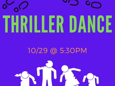 Thriller Thurrrrsday! 10/29 @ 5:30PM