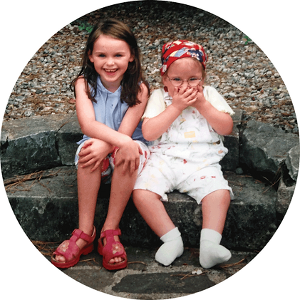 Ailbhe and Izzy, founders of izzy wheels