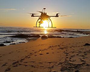 Sunset drone