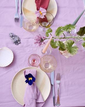Paper pelargonia & napkin rings