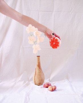 Paper orchid and paper grapefruit