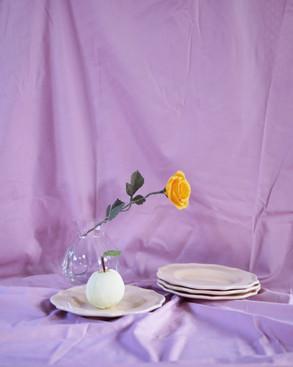 Paper rose & paper apple