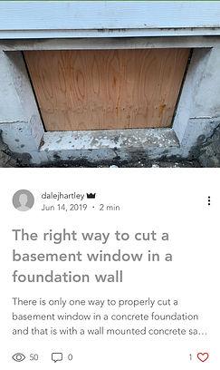 right way to cut basement windows true north concrete cutting calgary