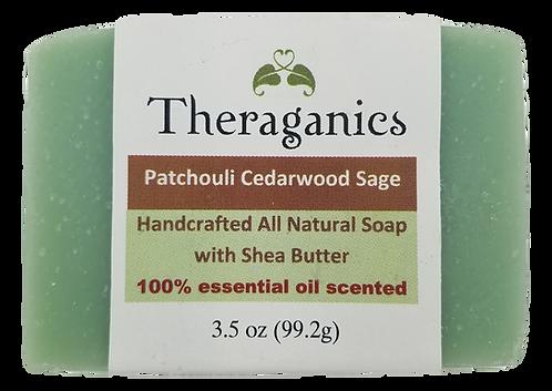 Patchouli Cedarwood & Sage Bar Soap