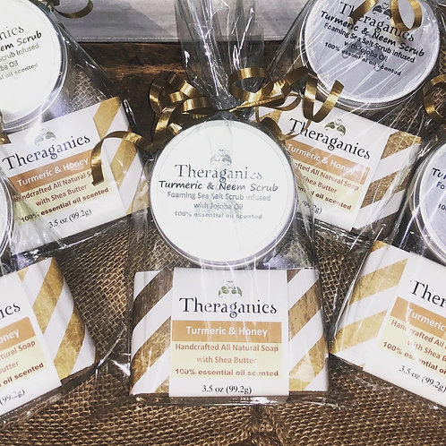 Turmeric, Honey & Neem Soap & Scrub set