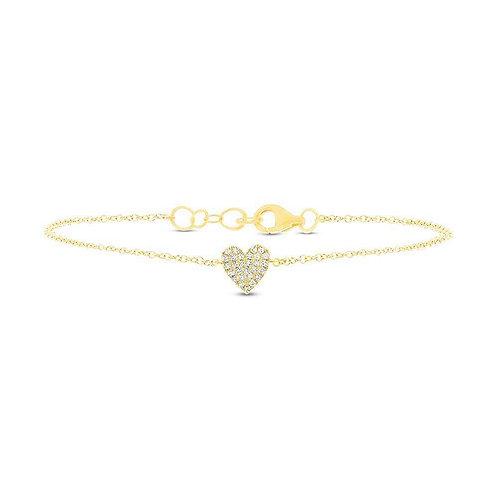 Chubby Pavé Heart Bracelet