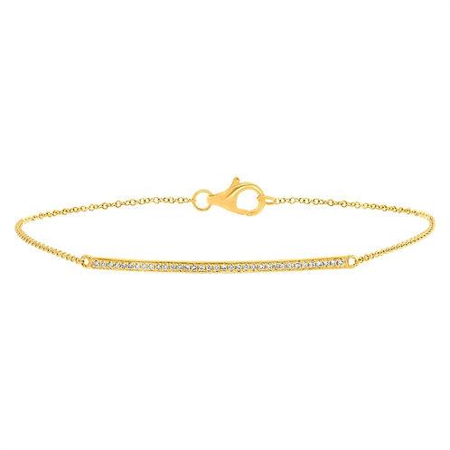 Skinny Diamond Bar Bracelet