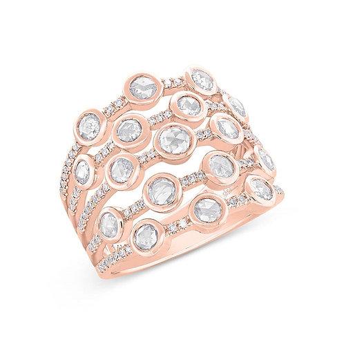 Rose Cut Bubble Ring