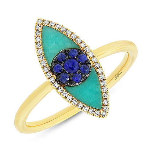 Evil Eye Torquoise Ring