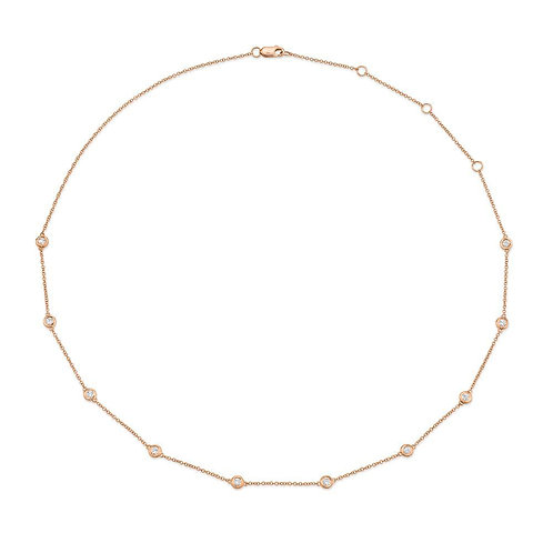 Blush Station Necklace Small