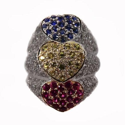 Tres Heart Ring
