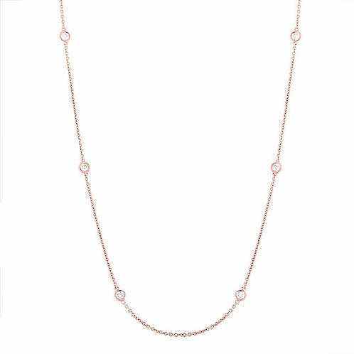 Blush Station Necklace