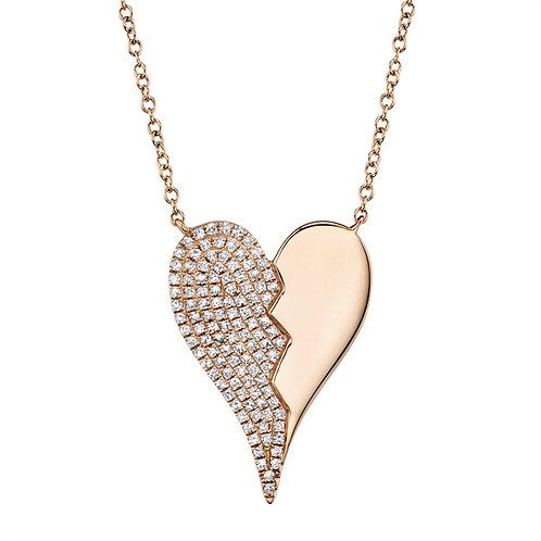 Half n' Half Heart Necklace