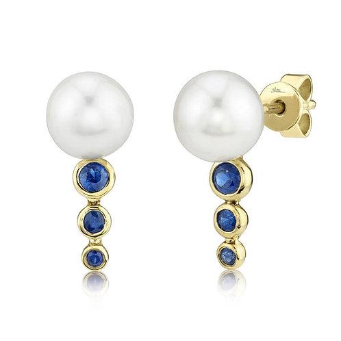 Sapphire Perlita Studs
