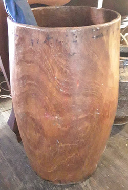 Hand Carved Timber Drum