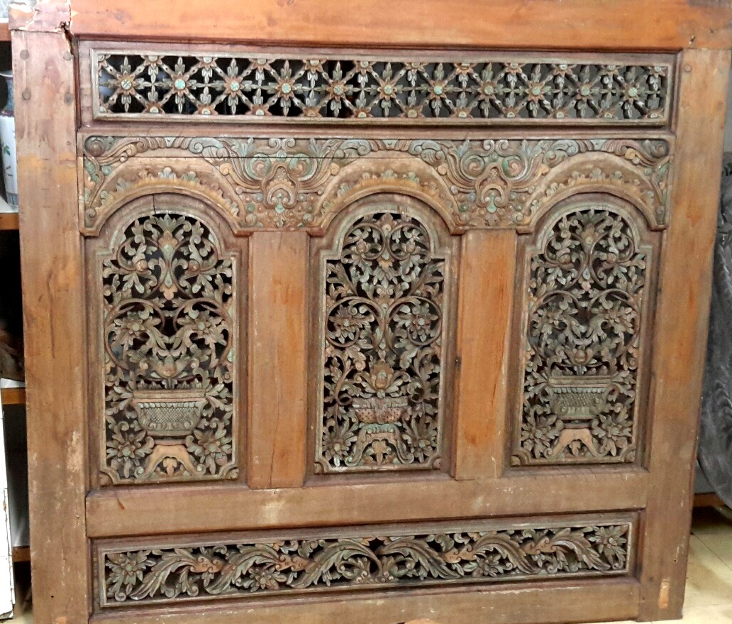 Carved Javanese Panel