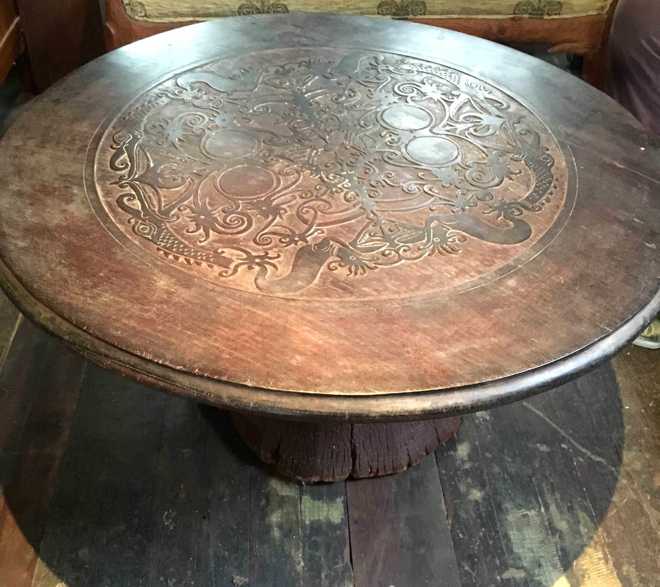 Carved Dayak Ironwood Coffee Table T