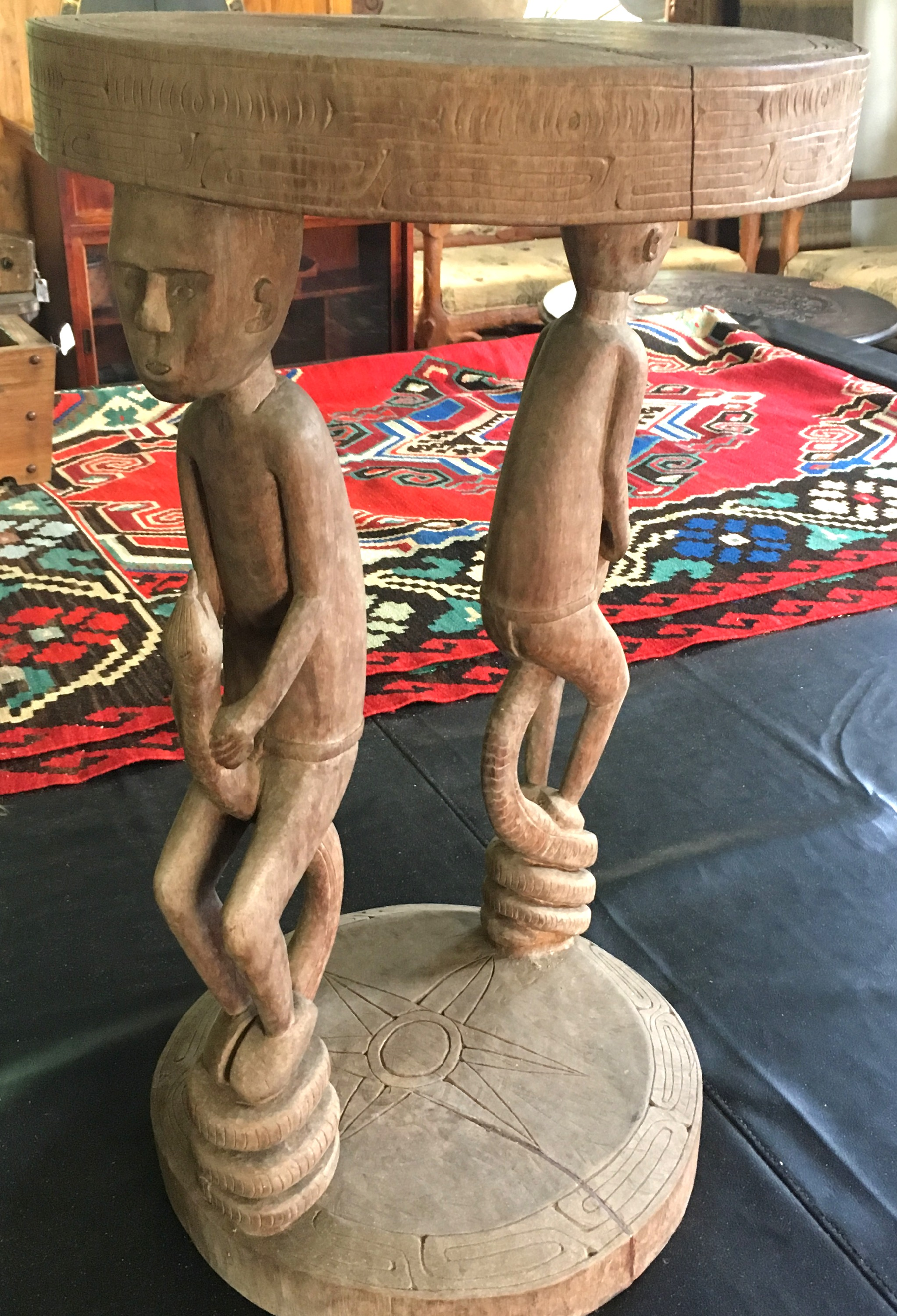PNG Carved Side Table