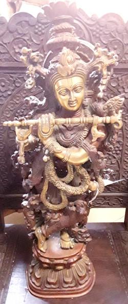Brass Krishna Statue