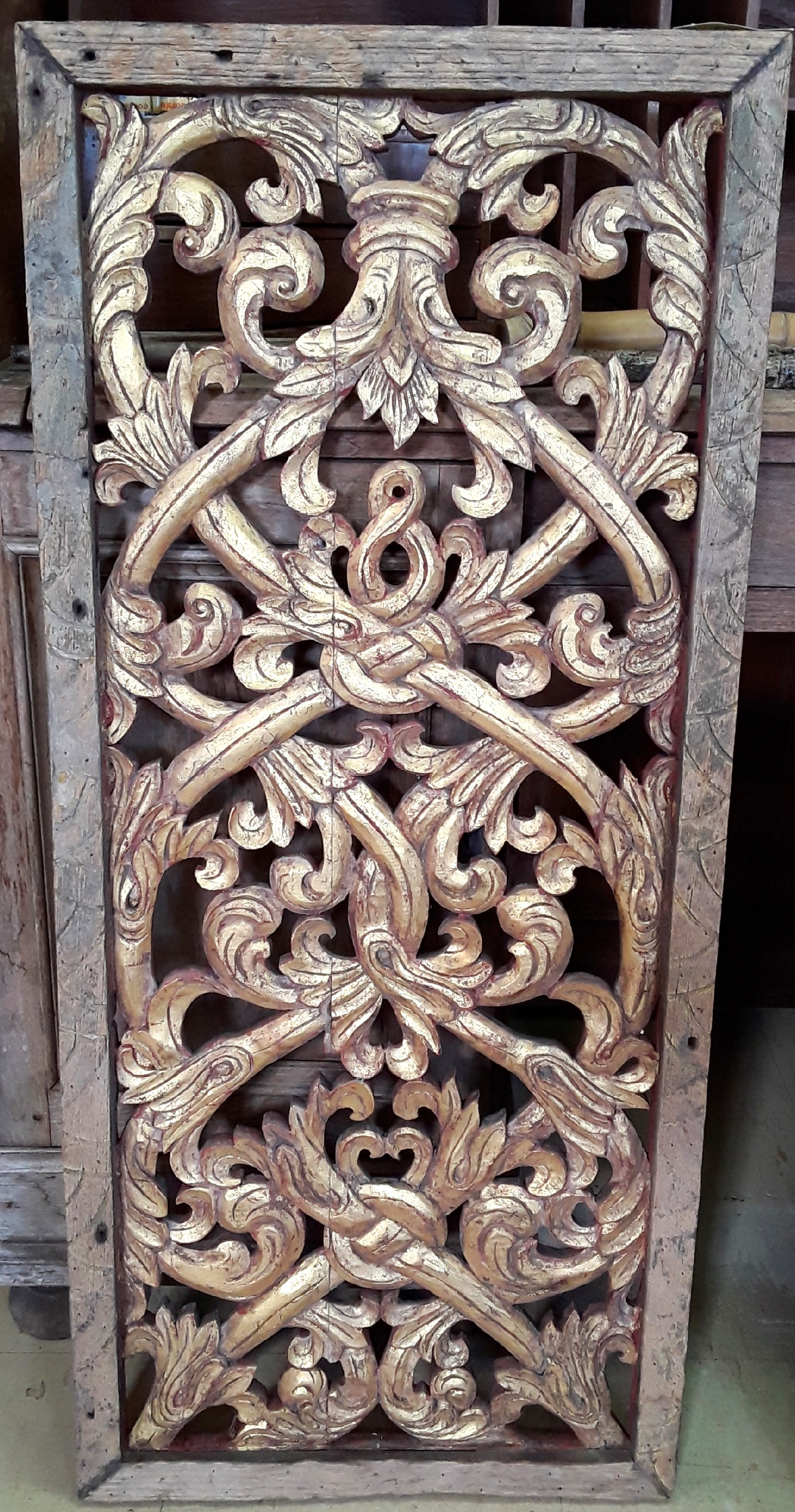 Antique Carved Panel Thailand.