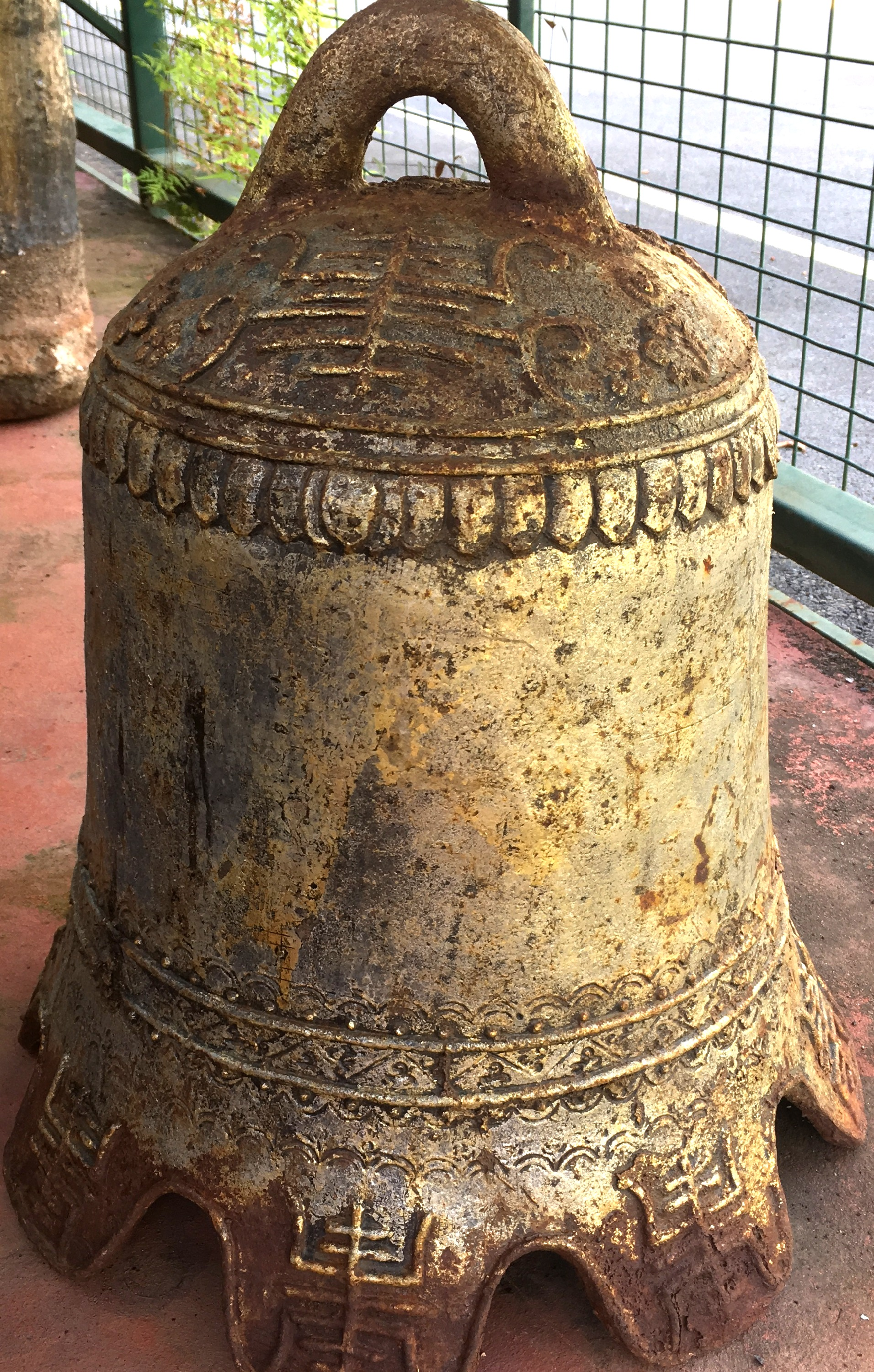 Chinese Cast Iron Bell