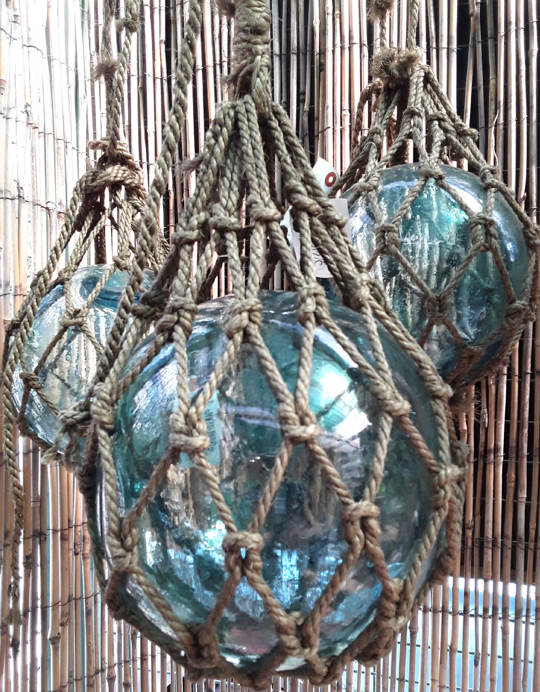 Japanese Glass Floats in Net