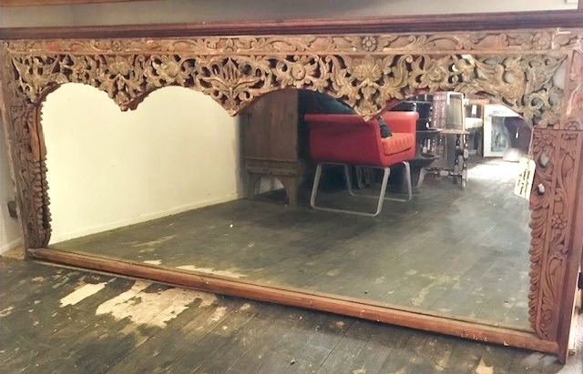 Carved Timber Mirror
