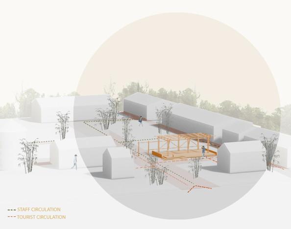 3D illustration - site circulation