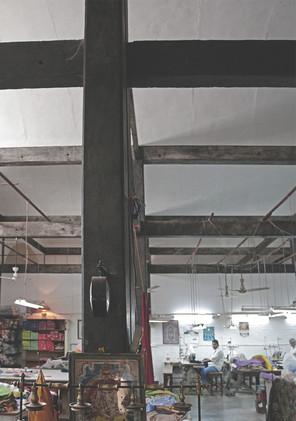 Web of beams and columns