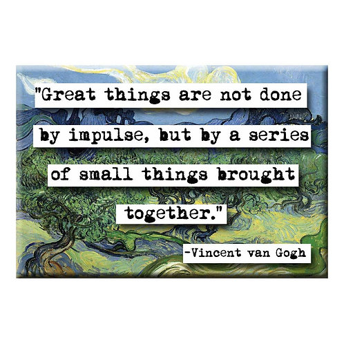 Vincent van Gogh Great Things Magnet - Set of 3