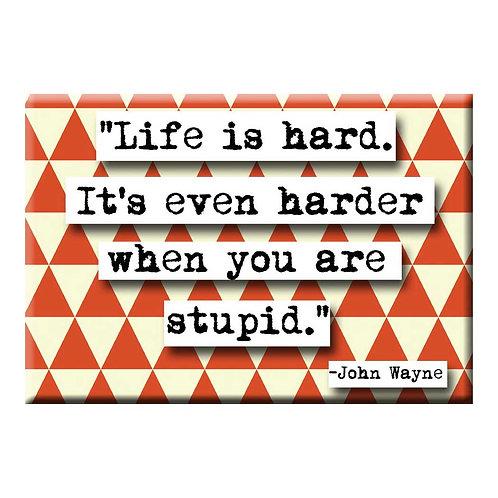 John Wayne Stupid Magnet - Set of 3