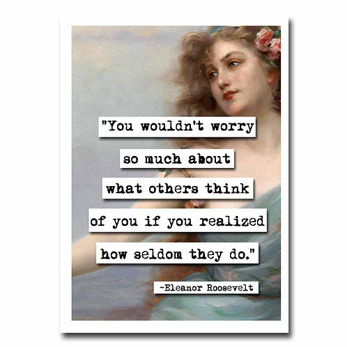 Eleanor Roosevelt Worry Greeting Card - 6 pack