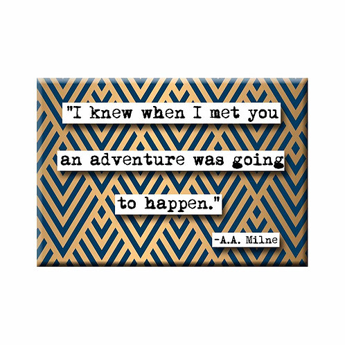 A.A. Milne Adventure Quote Magnet - Set of 3 Wholesale