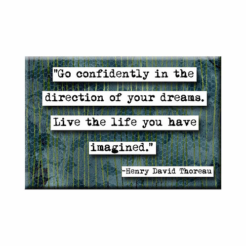Henry David Thoreau Go Confidently Quote Magnet - Set of 3 Wholesale