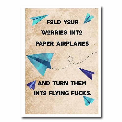 Flying Fucks Greeting Card - 6 pack