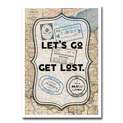 Let's Go Get Lost Greeting Card - 6 pack Wholesale