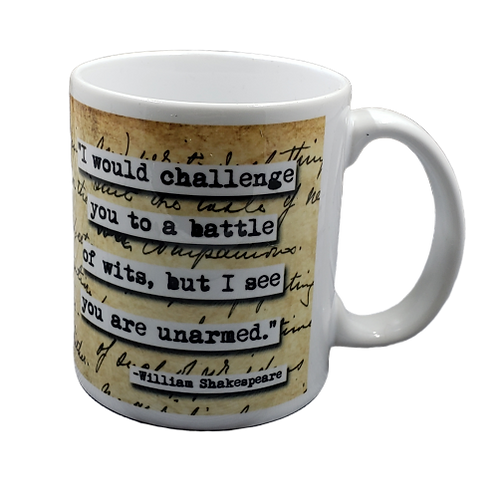 William Shakespeare Battle of Wits coffee mug - wholesale set of 2