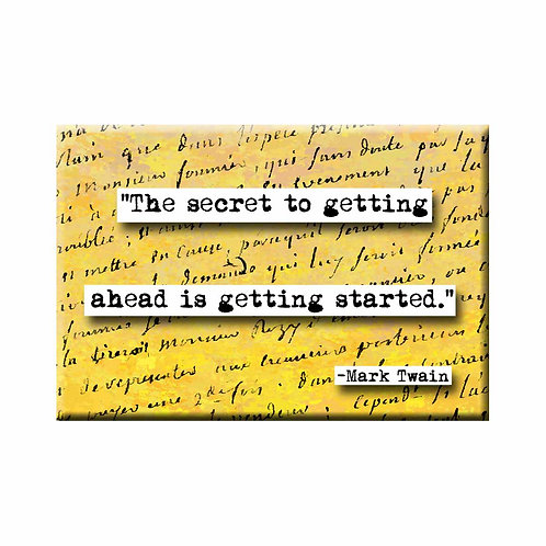 Mark Twain Getting Started Quote Magnet - Set of 3 Wholesale