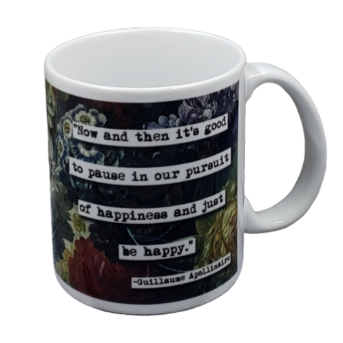 Guillaume Apollinaire Quote coffee mug - wholesale set of 2