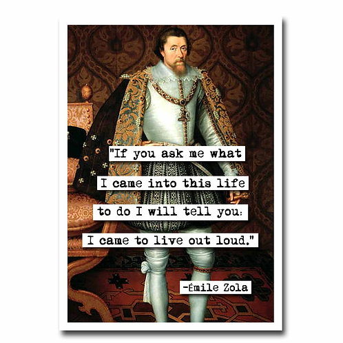 Emile Zola Live quote Blank Greeting Card - 6 pack w