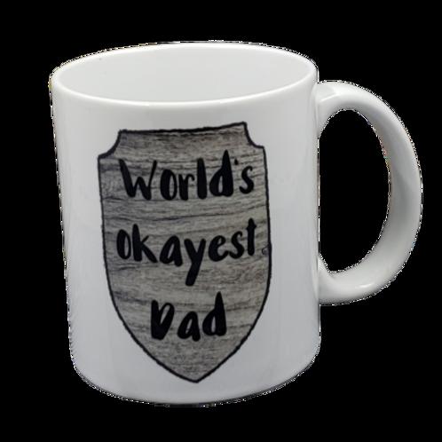 World's Okaest Dad coffee mug - wholesale set of 2