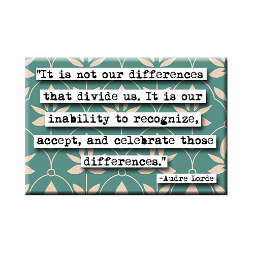 Audre Lorde Differences Quote Magnet - Set of 3 Wholesale
